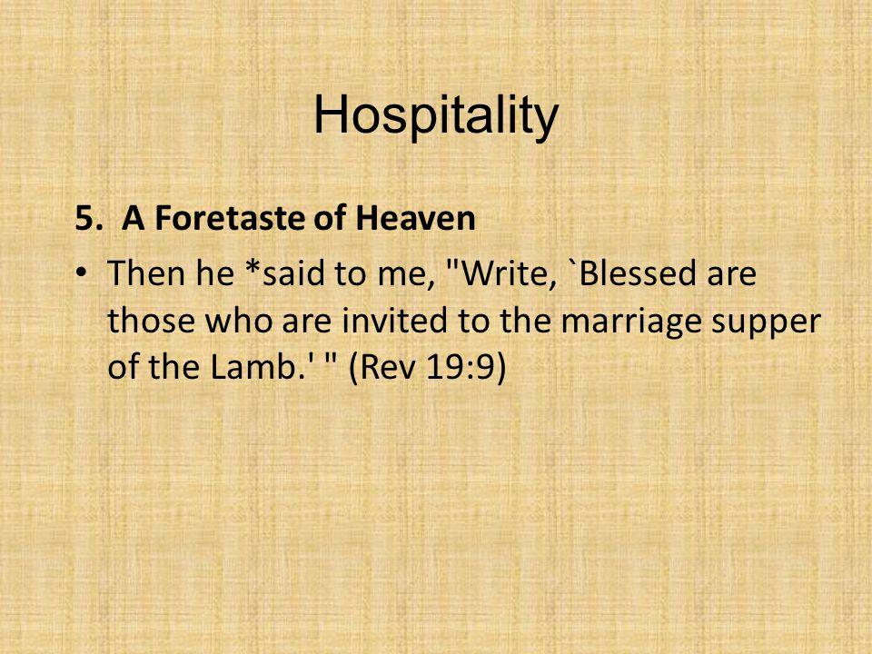 Hospitality 5.