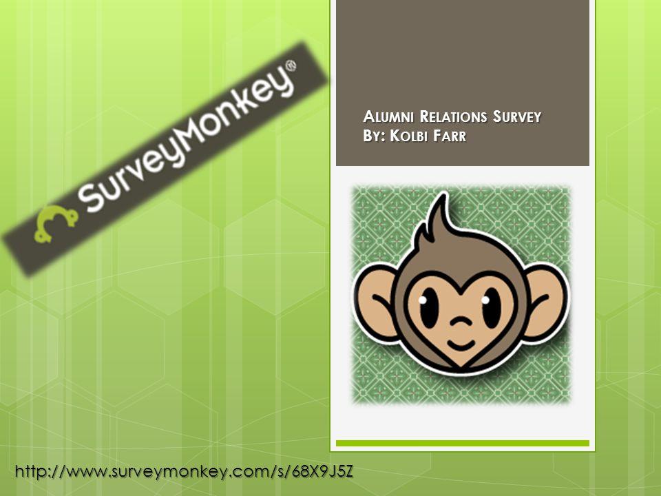 http://www.surveymonkey.com/s/68X9J5Z A LUMNI R ELATIONS S URVEY B Y : K OLBI F ARR