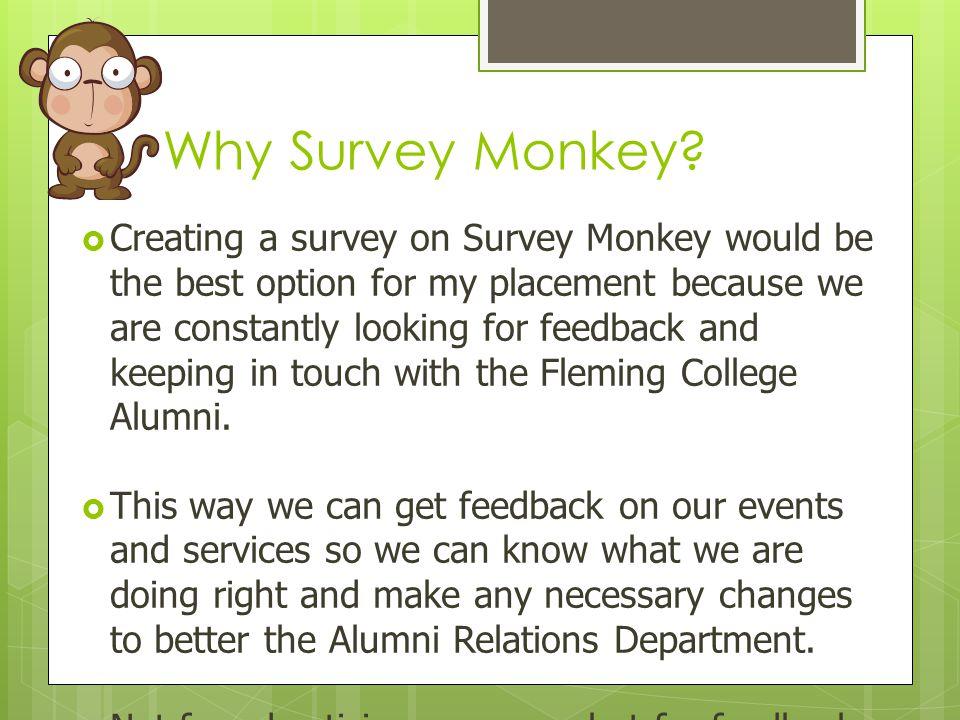 Why Survey Monkey.