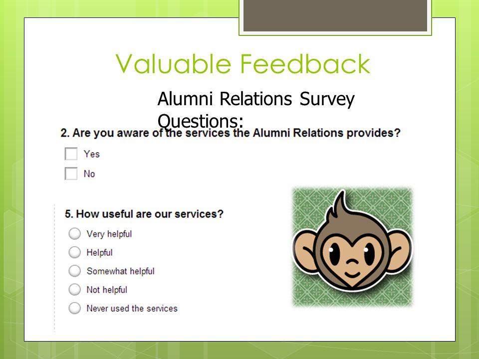 Valuable Feedback Alumni Relations Survey Questions: