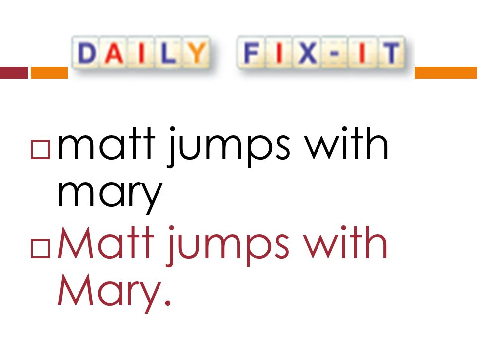  matt jumps with mary  Matt jumps with Mary.