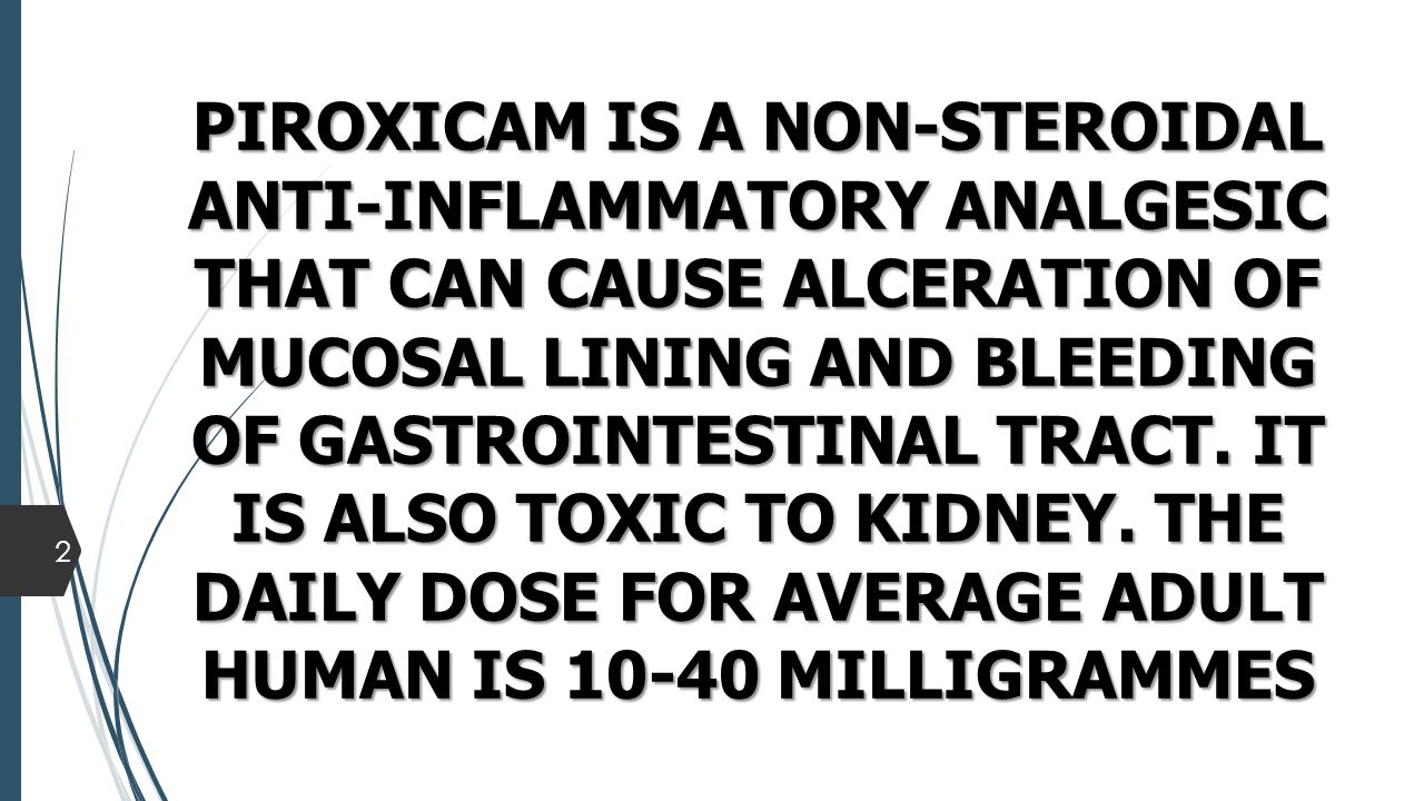 THE EXTRAPOLATED HIGH DOSES OF PIROXICAM FOR MONOGASTRIC ANIMALS AGREES WITH THE REPORTS OF CALEJESAN ET AL.