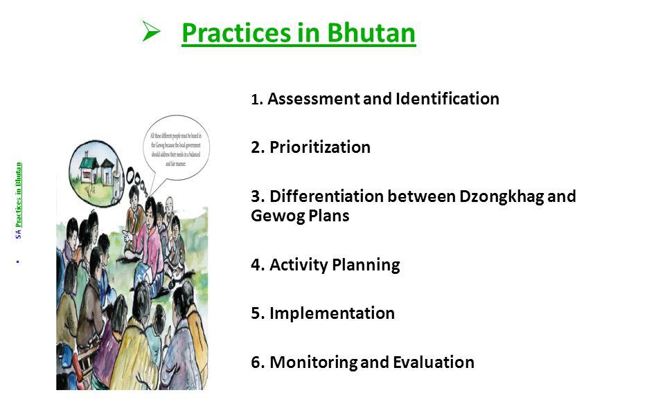  Practices in Bhutan  SA Practices in Bhutan I.