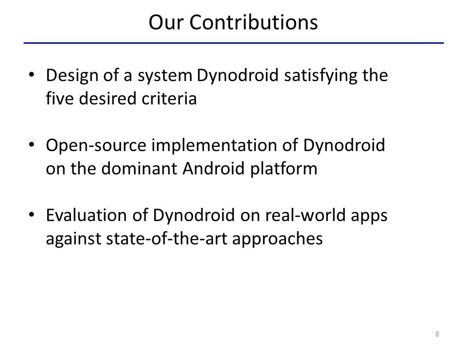 Dynodroid vs.