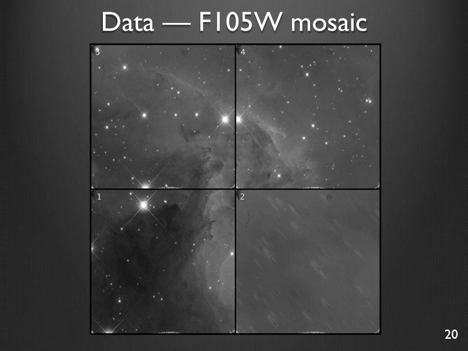 Data — F105W mosaic 20