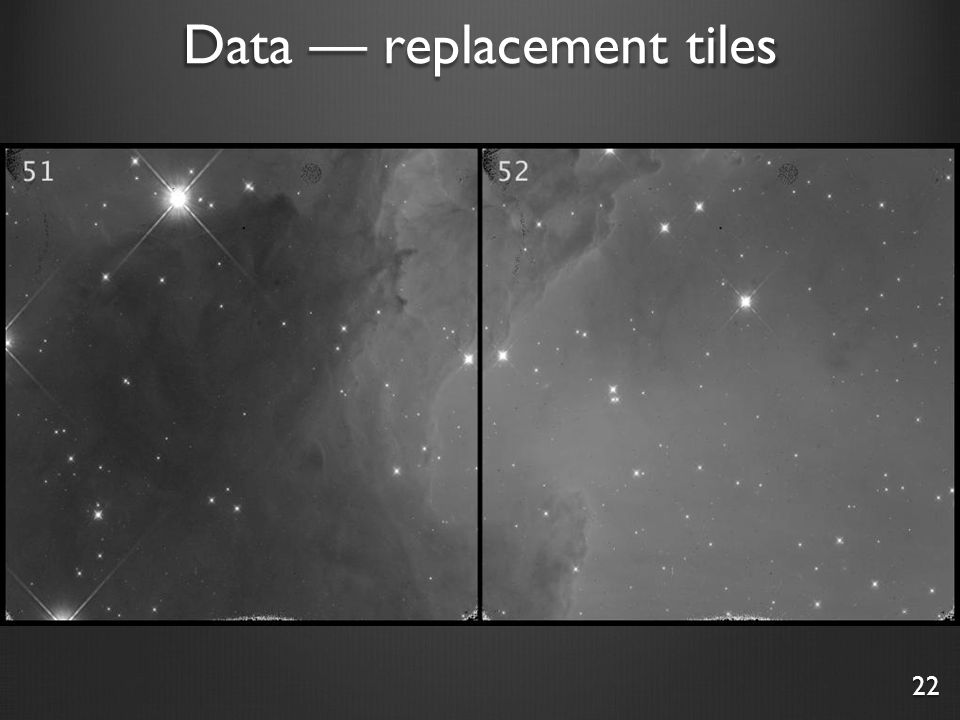 Data — replacement tiles 22