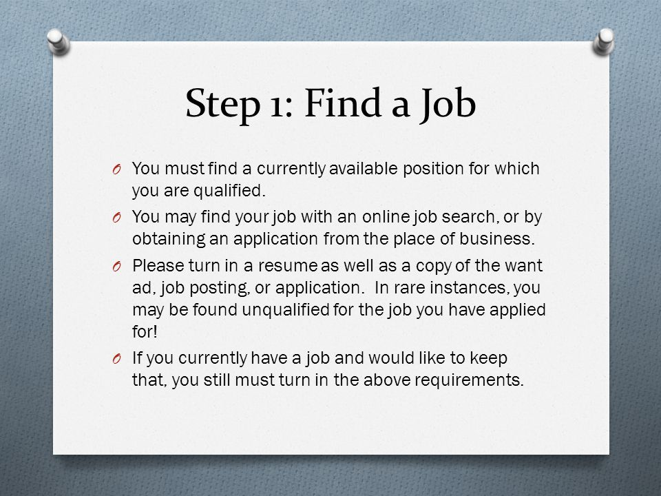 Step 1: Find a Job O Assuming you are hired for the position, you must then estimate your monthly income.