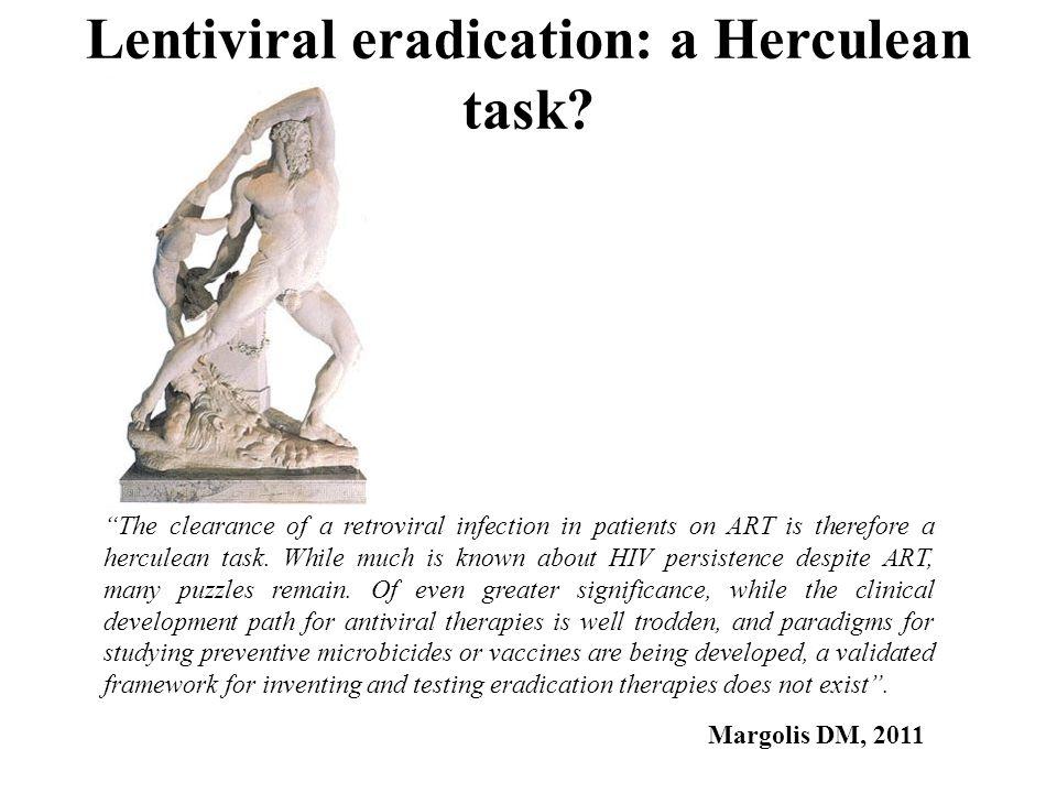 Lentiviral eradication: a Herculean task.