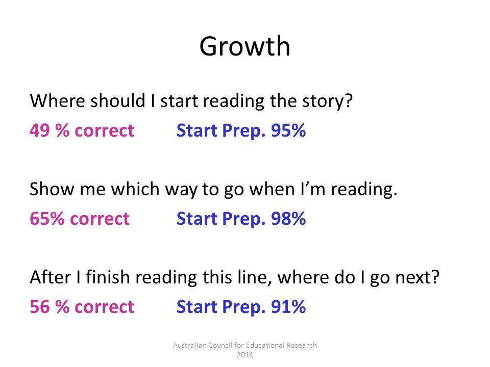 Growth Where should I start reading the story. 49 % correctStart Prep.