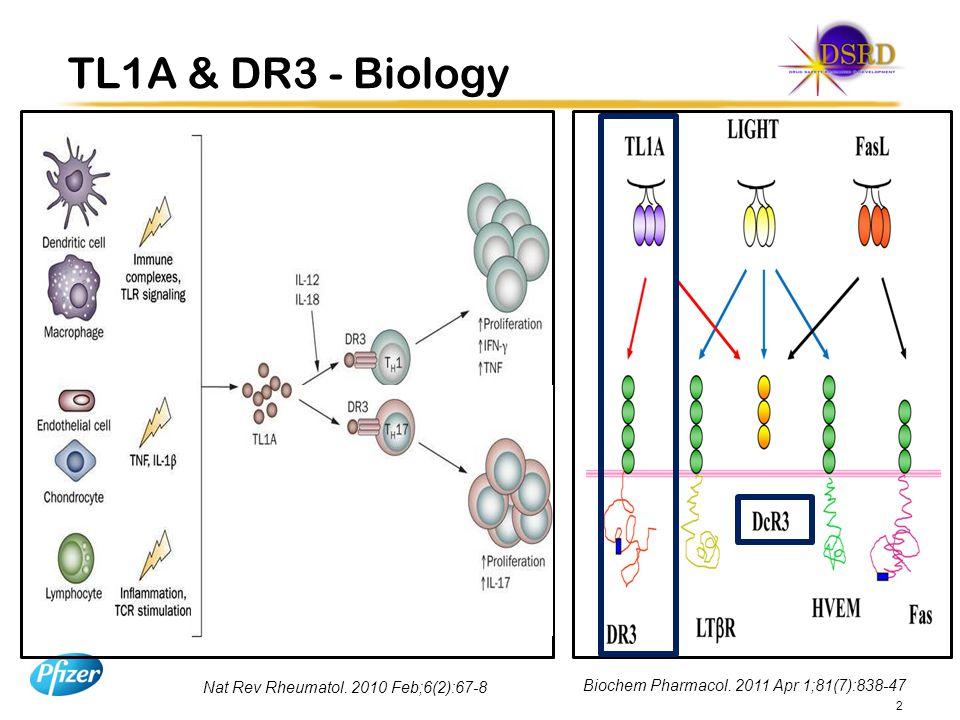 TL1A & DR3 - Biology Nat Rev Rheumatol.2010 Feb;6(2):67-8 2 Biochem Pharmacol.