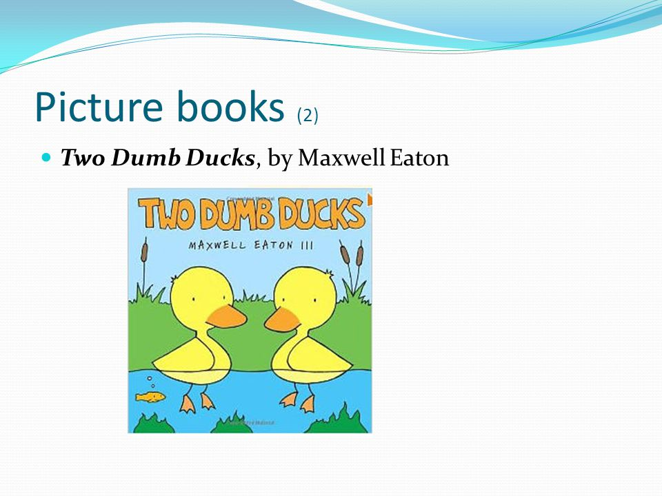 Picture books (2) Two Dumb Ducks, by Maxwell Eaton