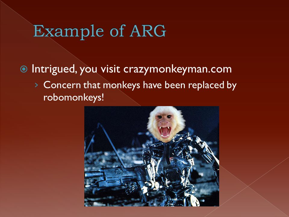  Intrigued, you visit crazymonkeyman.com › Concern that monkeys have been replaced by robomonkeys!