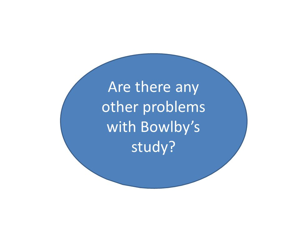 Are there any other problems with Bowlby's study?