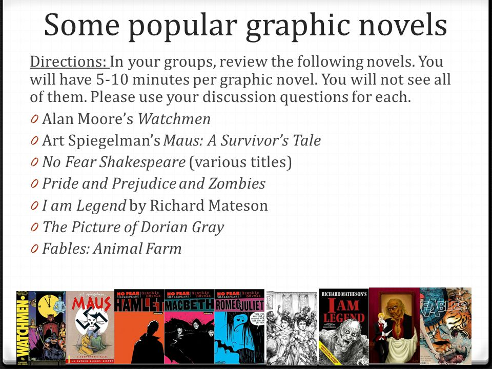 Graphic novel group discussion questions 1.
