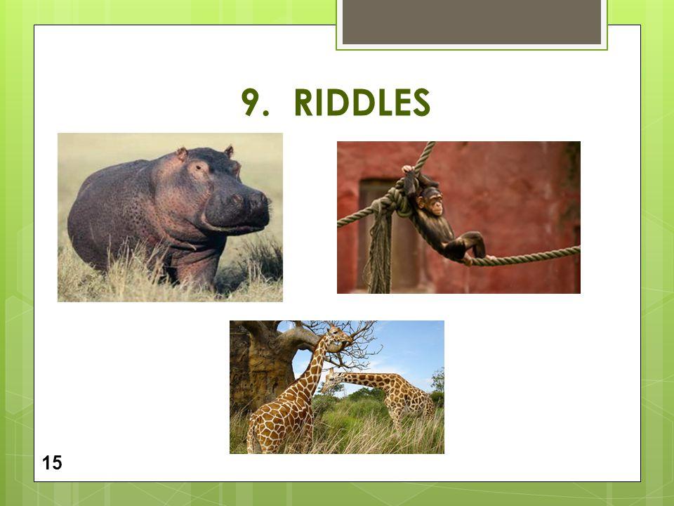 9. RIDDLES 15