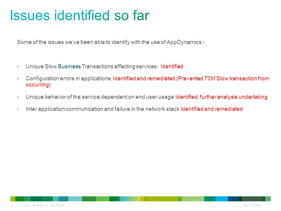 © 2011 Cisco and/or its affiliates. All rights reserved.