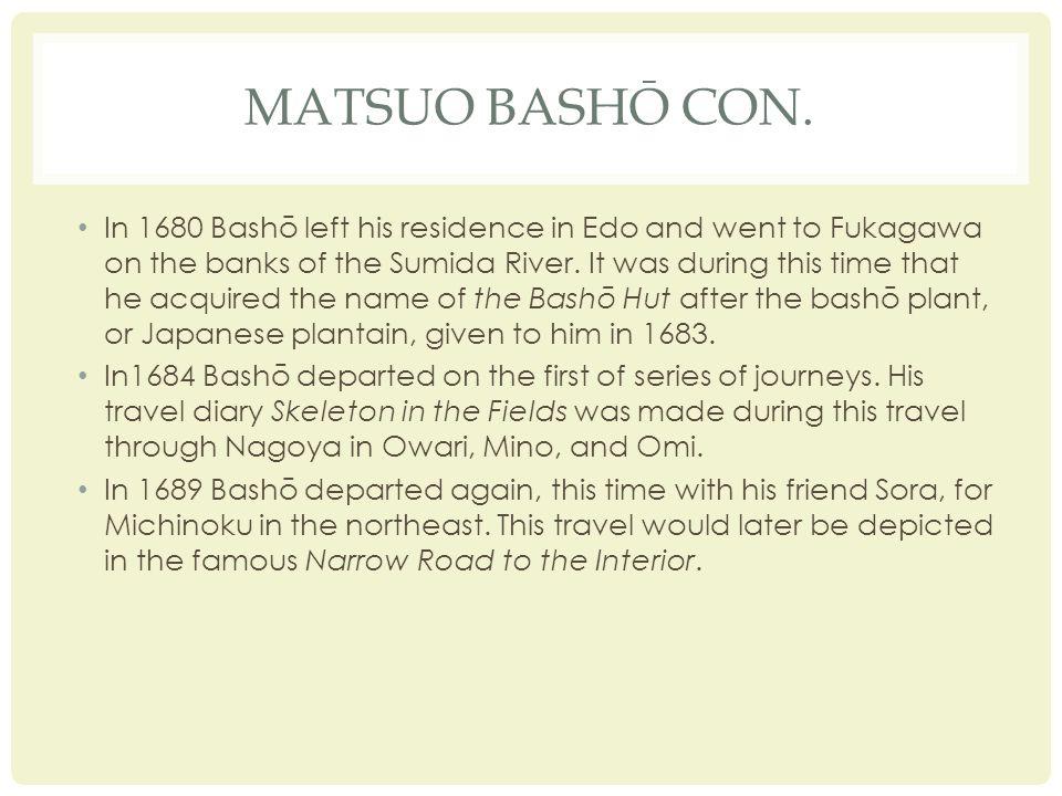 MATSUO BASHŌ CON.