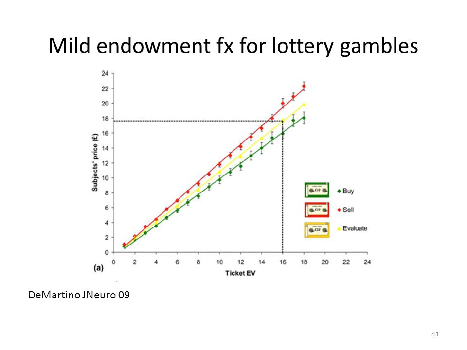 41 Mild endowment fx for lottery gambles DeMartino JNeuro 09