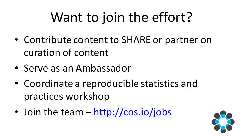 Want to join the effort.