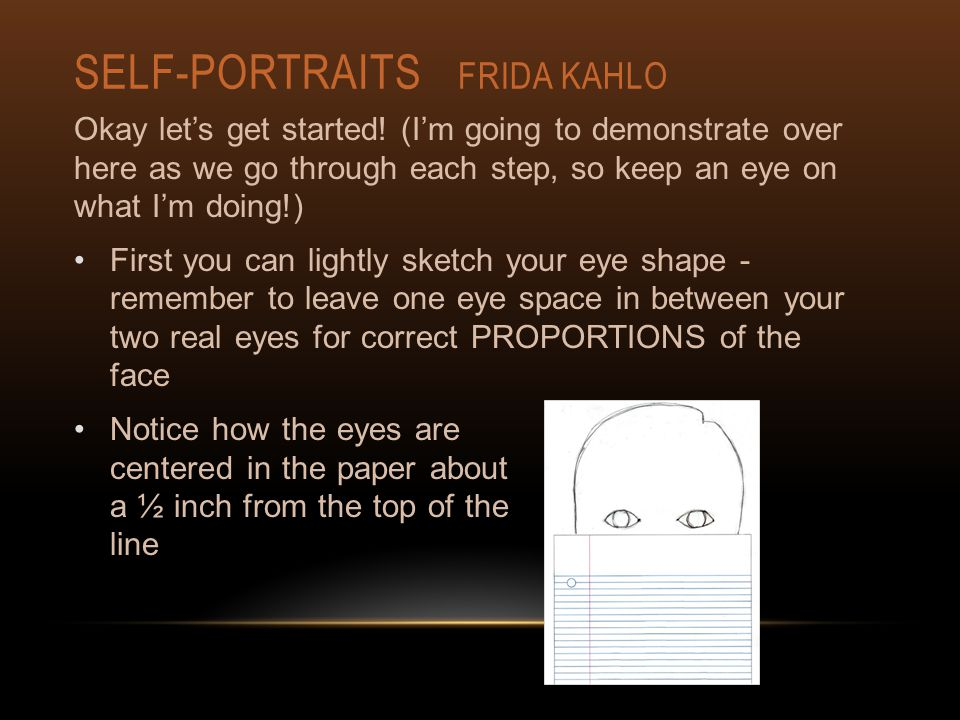 SELF-PORTRAITS FRIDA KAHLO Okay let's get started.