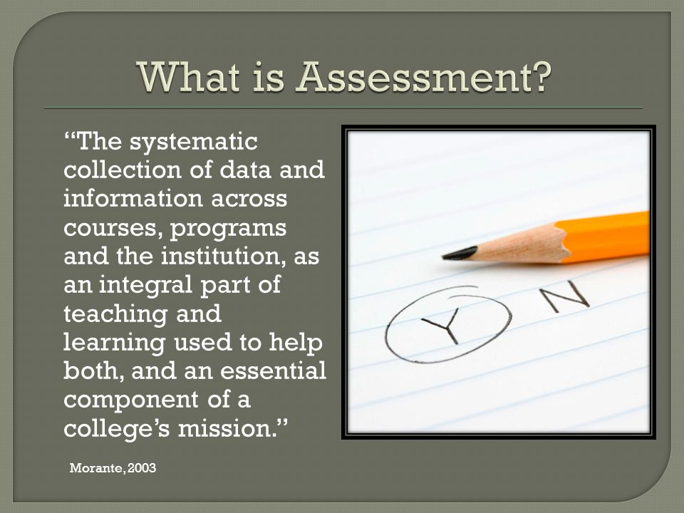 Student Perceptions of learning Self-assessments Focus groups Graduation rates Products of Student Learning Portfolios Signature assignments Capstone projects