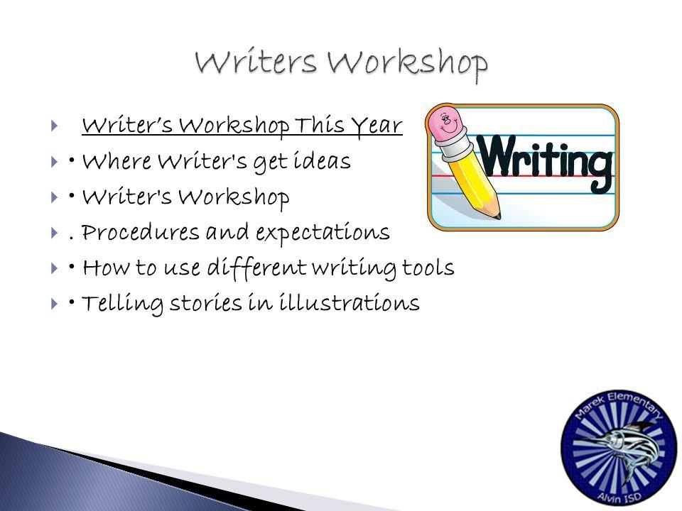  Writer's Workshop This Year  Where Writer s get ideas  Writer s Workshop .