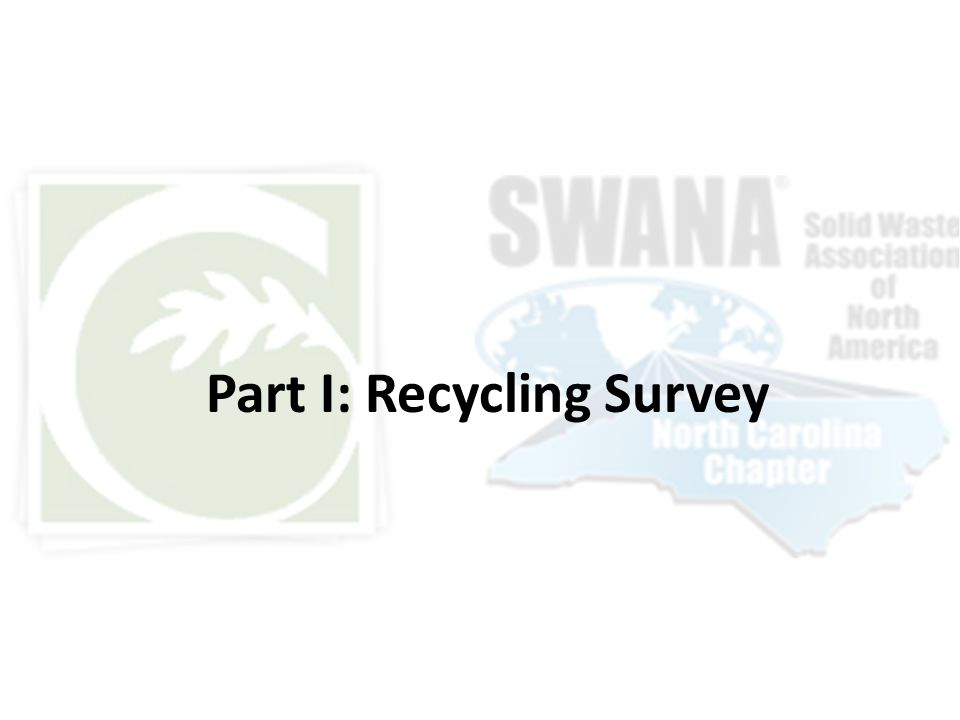 Part I: Recycling Survey