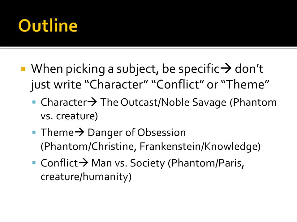  Make your thesis specific.