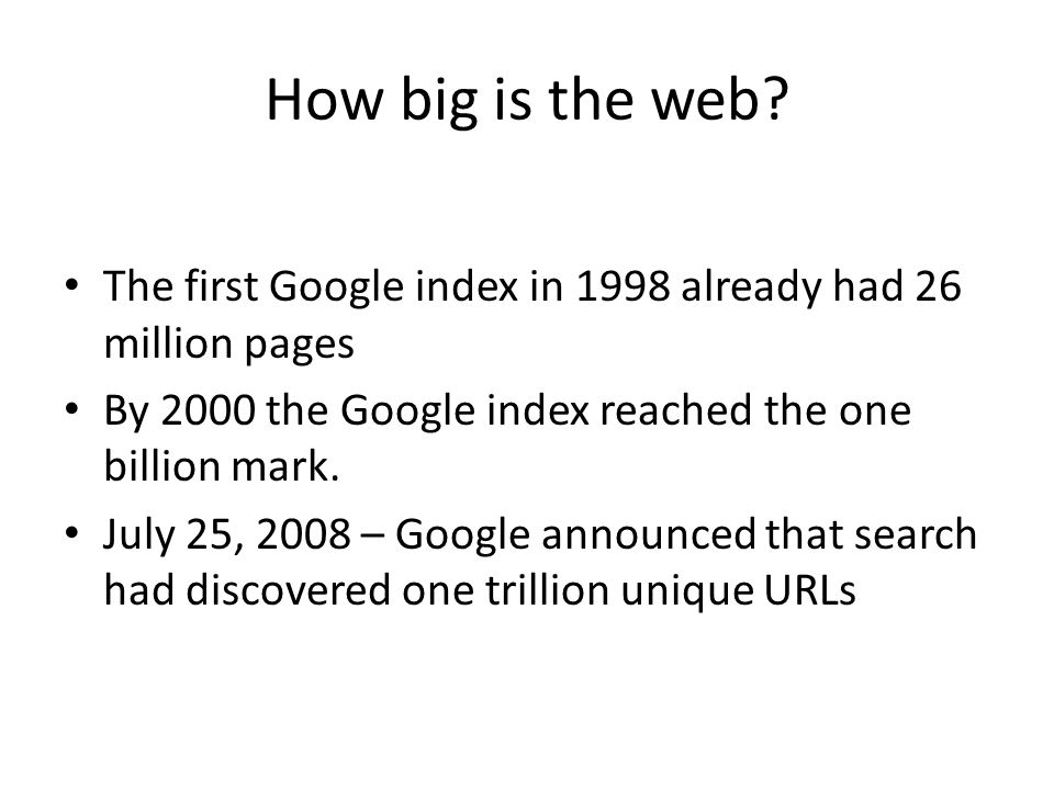 How big is the web.
