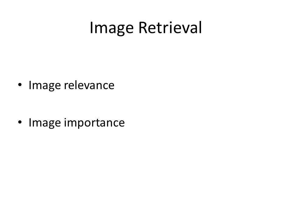 Image Retrieval Image relevance Image importance