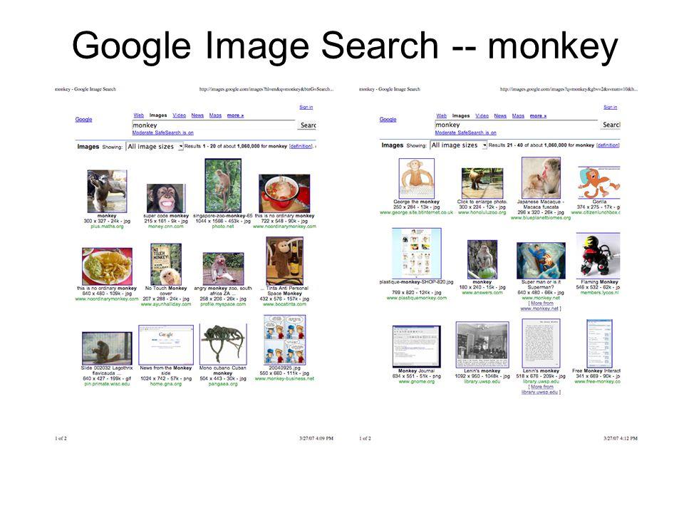 Google Image Search -- monkey Circa 2006