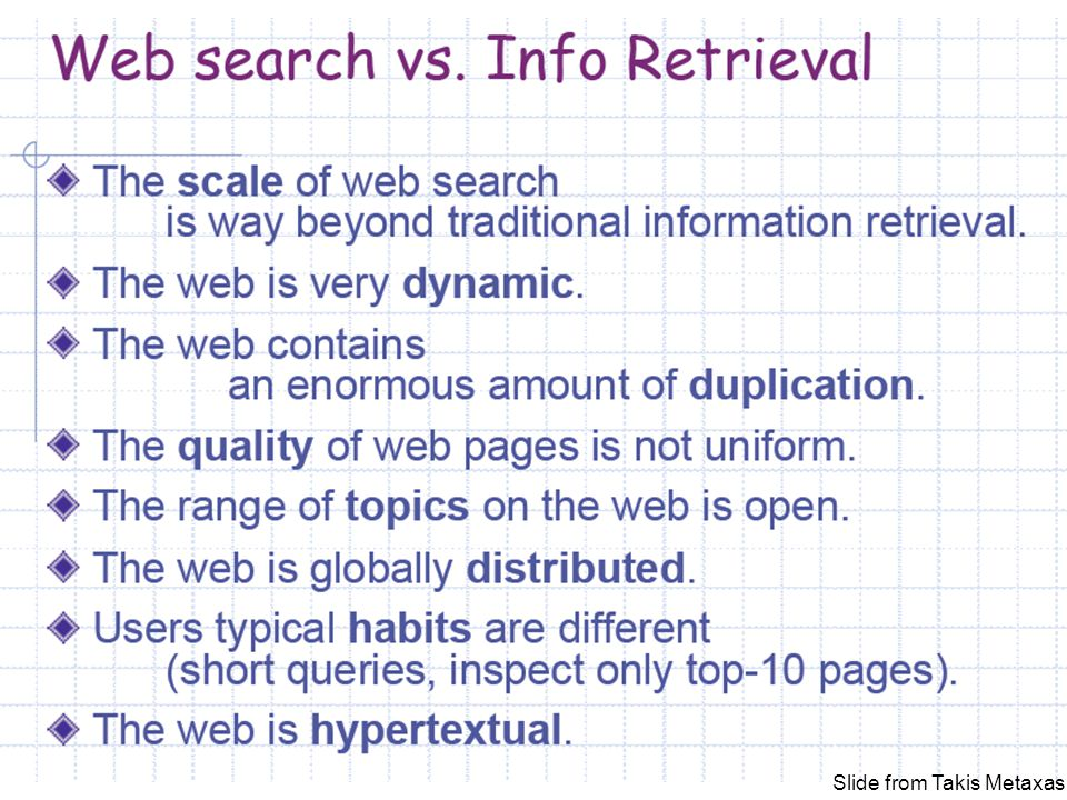 The Anatomy of a Large-Scale Hypertextual Web Search Engine Sergey Brin and Lawrence Page