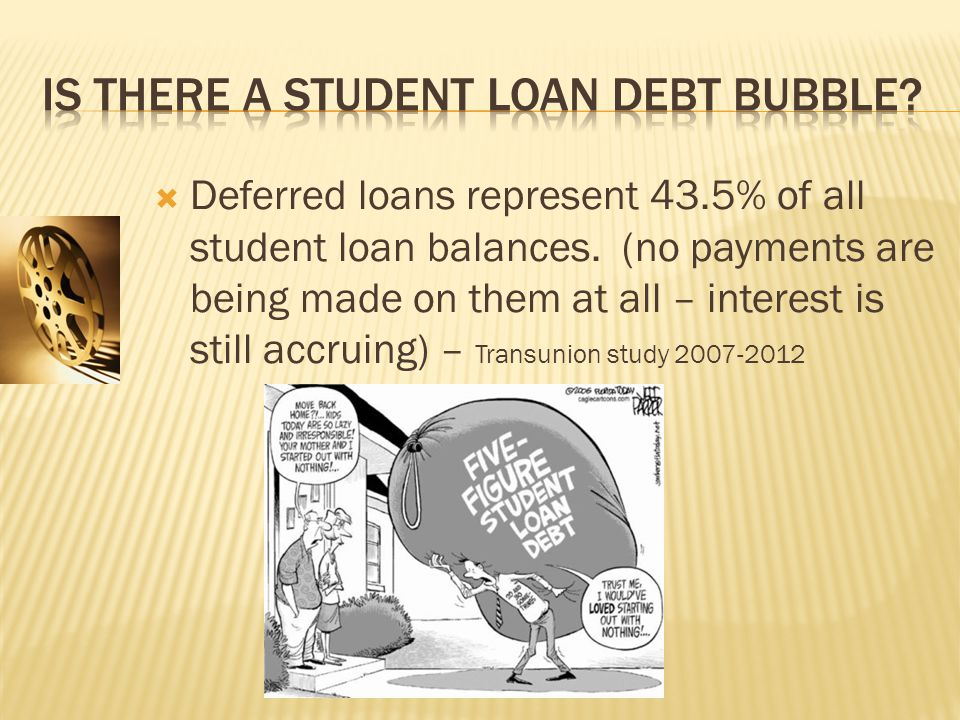  Deferred loans represent 43.5% of all student loan balances.