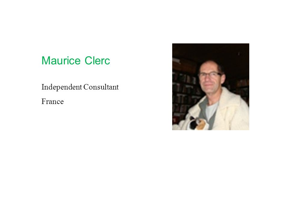 Maurice Clerc Independent Consultant France