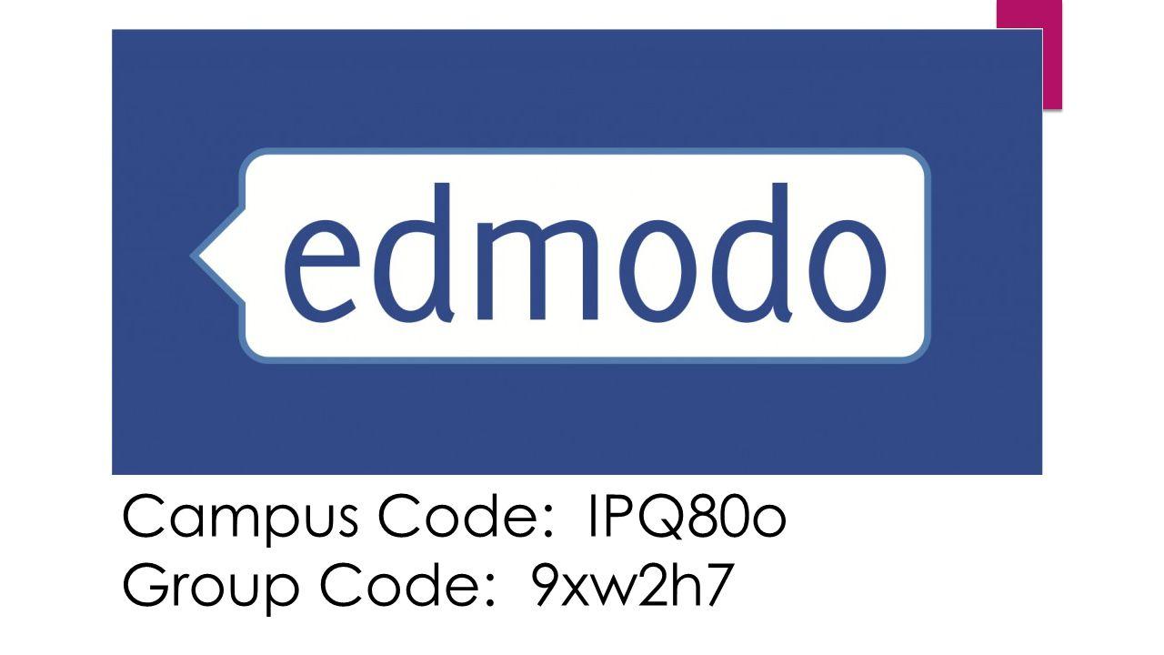 Campus Code: IPQ80o Group Code: 9xw2h7