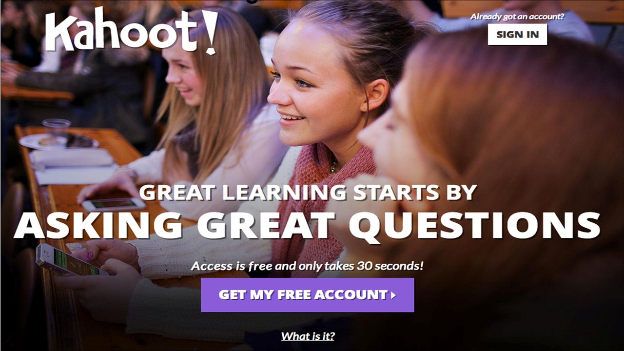 Click on box or go to create.kahoot.it.com