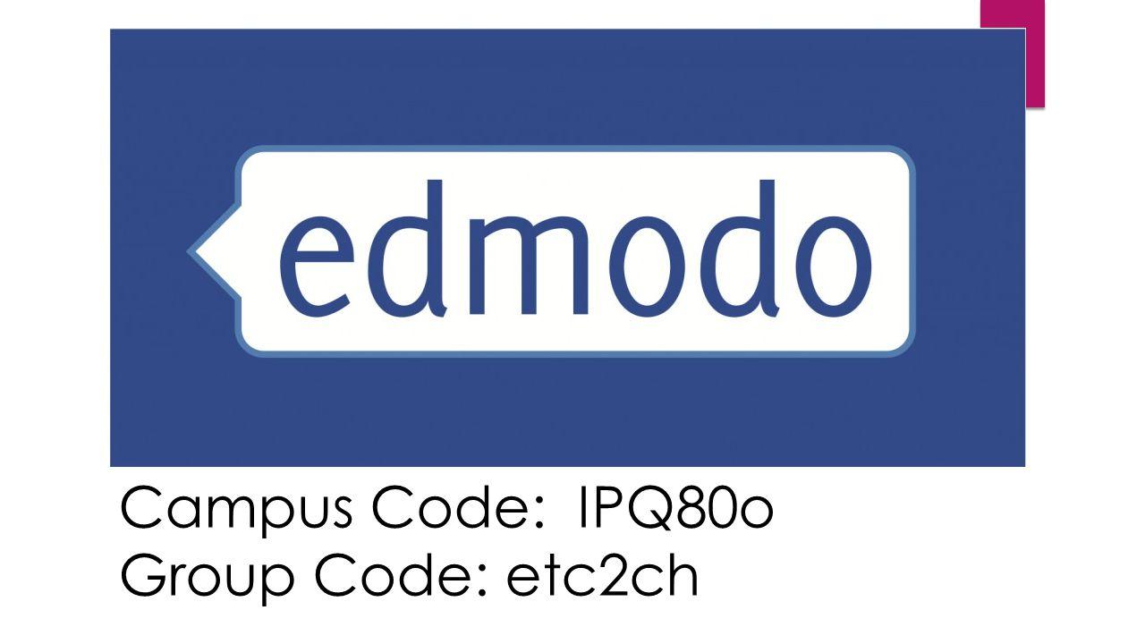Campus Code: IPQ80o Group Code: etc2ch