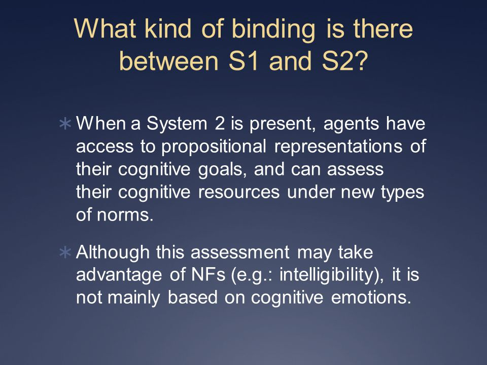What kind of binding is there between S1 and S2.