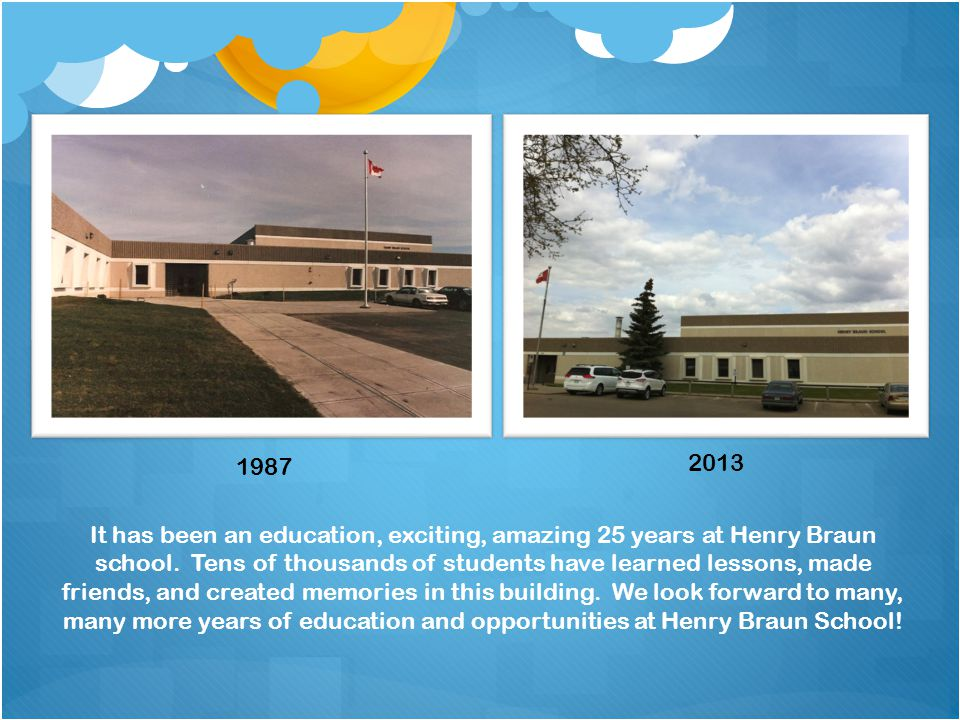 It has been an education, exciting, amazing 25 years at Henry Braun school.