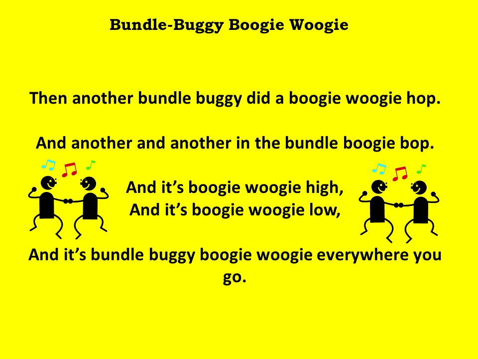 Bundle-Buggy Boogie Woogie Then another bundle buggy did a boogie woogie hop.