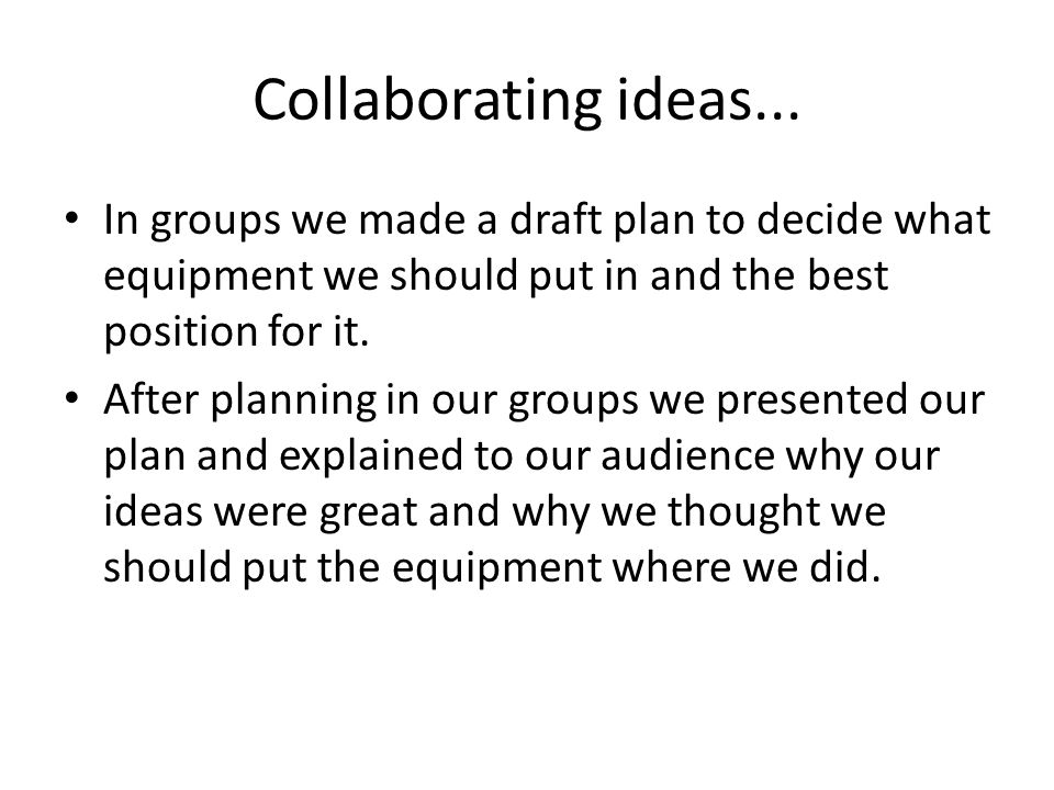 Collaborating ideas...