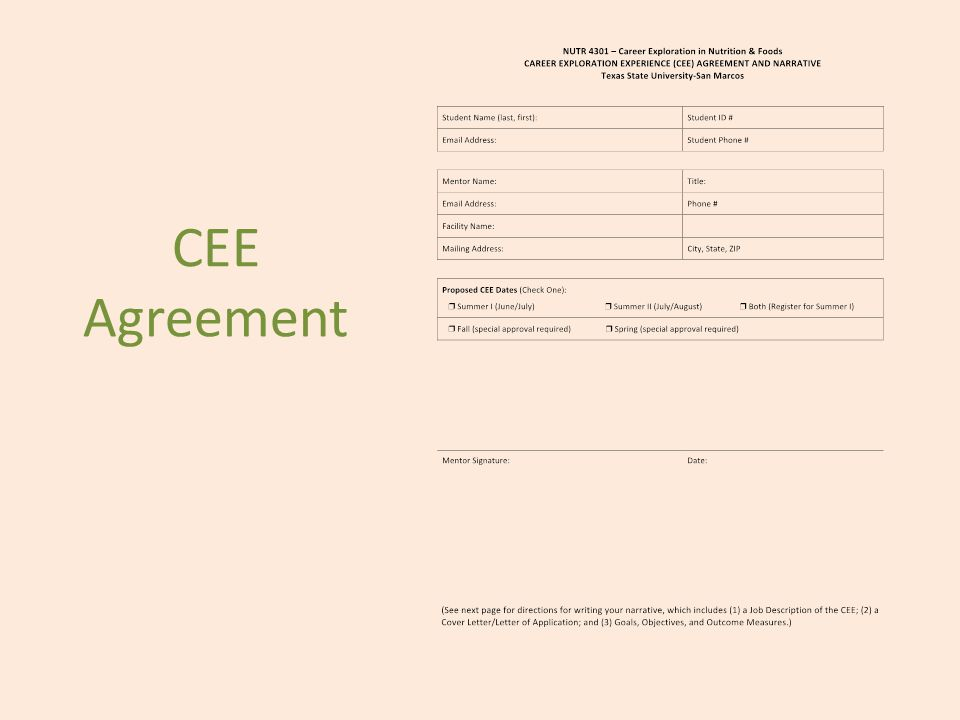 CEE Agreement