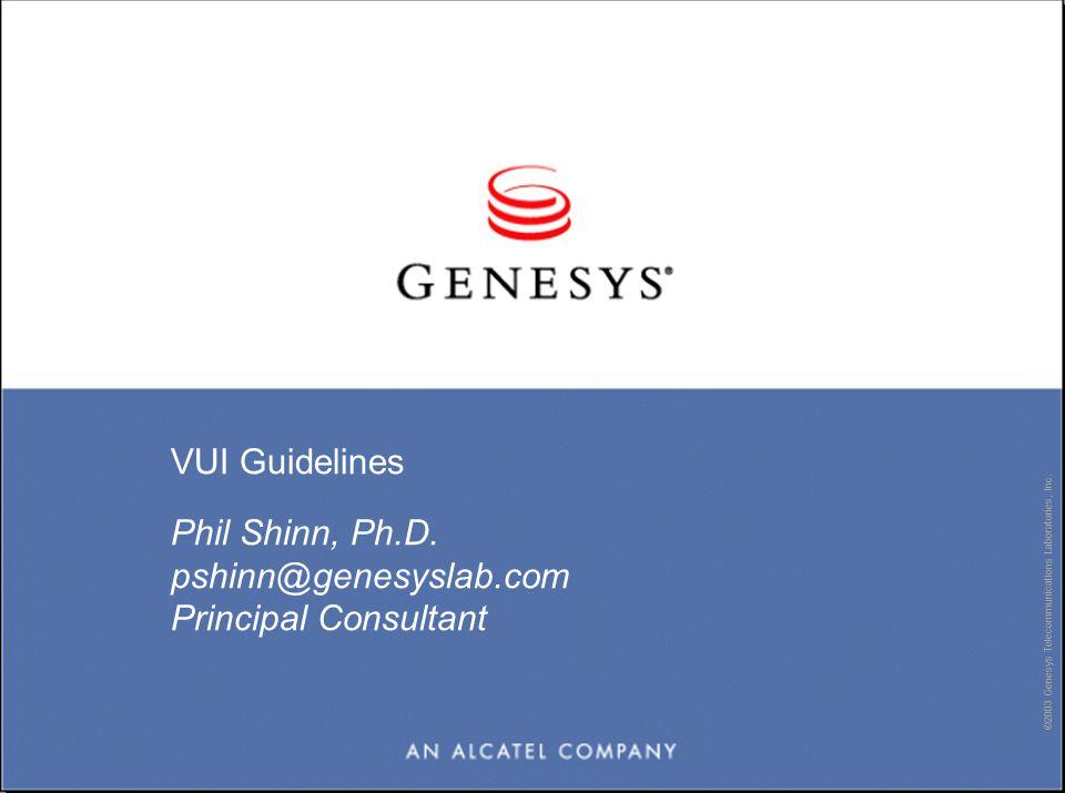 ©2003 Genesys Telecommunications Laboratories, Inc.