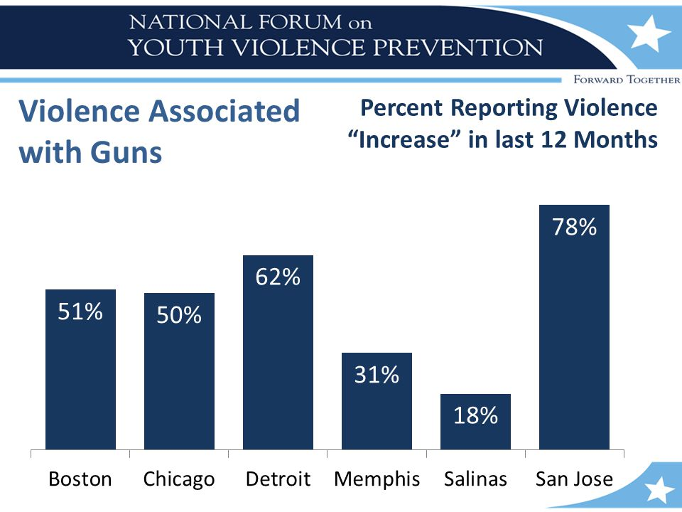 Violence Associated with Guns Percent Reporting Violence Increase in last 12 Months