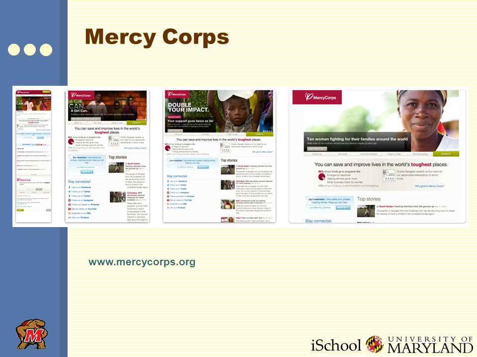iSchool Mercy Corps www.mercycorps.org