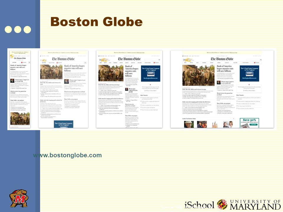 iSchool Boston Globe www.bostonglobe.com Source: http://mediaqueri.es