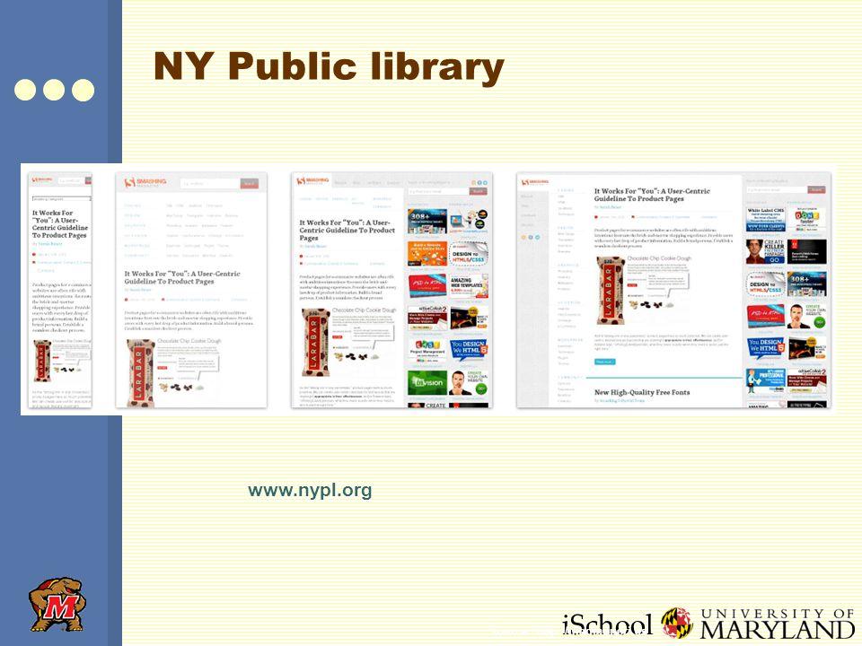 iSchool NY Public library www.nypl.org Source: http://mediaqueri.es