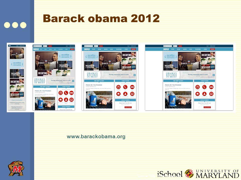 iSchool Barack obama 2012 www.barackobama.org Source: http://mediaqueri.es