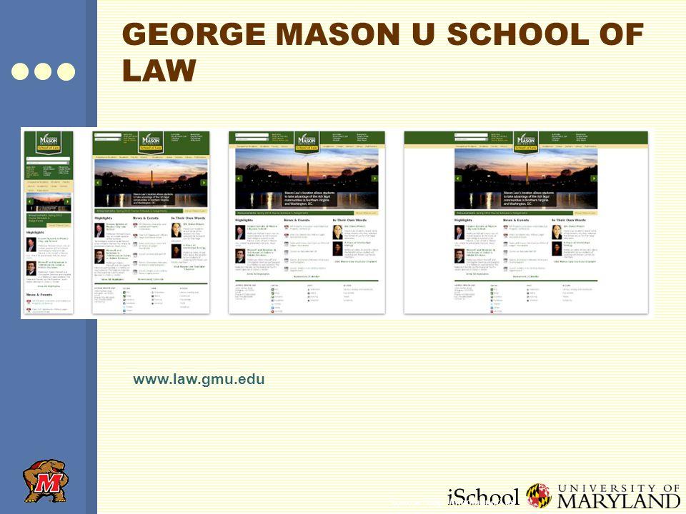 iSchool GEORGE MASON U SCHOOL OF LAW www.law.gmu.edu Source: http://mediaqueri.es