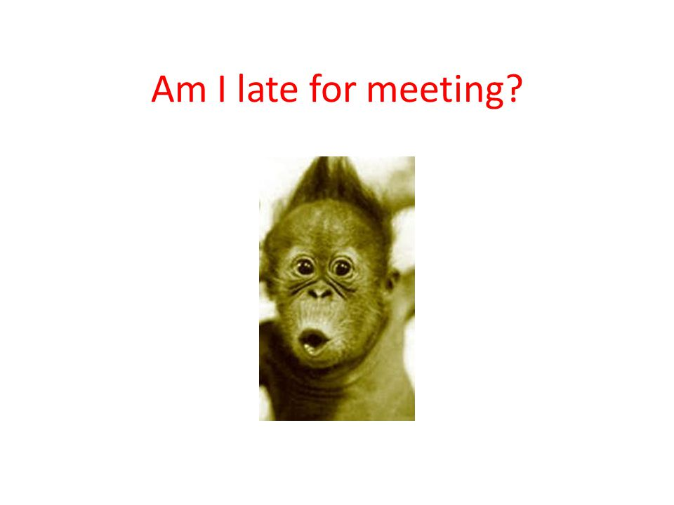 Am I late for meeting